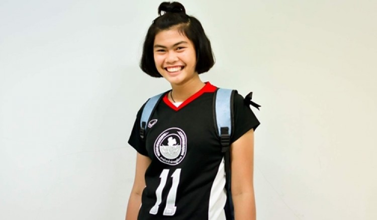 นางสาวธัญย์ชนก  สาสูงเนิน  นักกีฬาวอลเลย์บอล