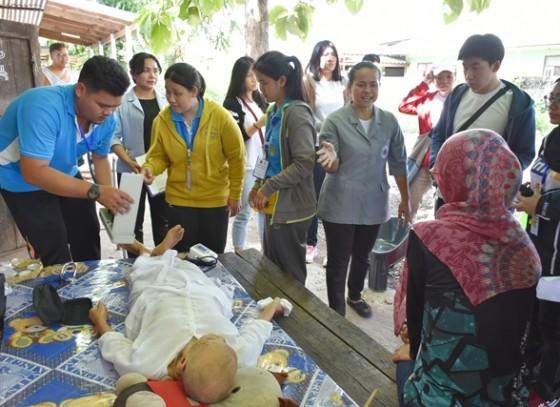 นักศึกษามหาวิทยาลัยกัวลาลัมเปอร์ ประเทศมาเลเซีย ดูงานการดูแลสุขภาพผู้ป่วยติดบ้าน ติดเตียง