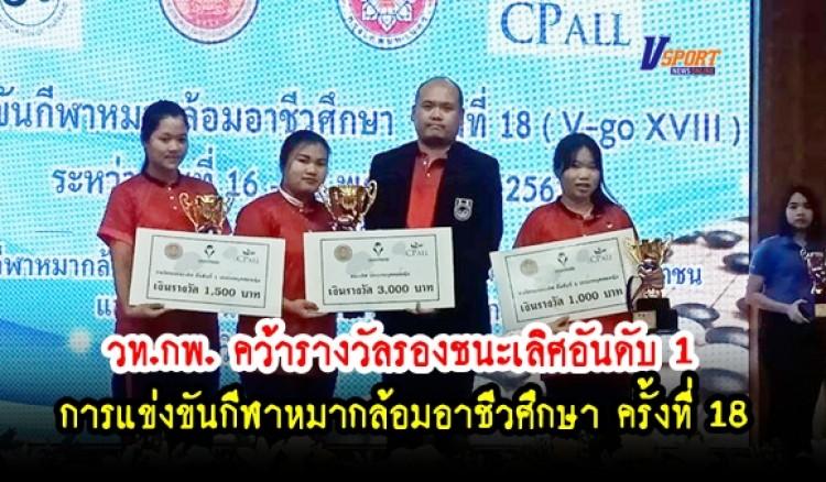 กำแพงเพชรข่าวกีฬา-วท.กพ. คว้ารางวัลรองชนะเลิศอันดับ 1 หมากล้อมอาชีวศึกษา