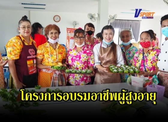 กำแพงเพชร-องค์การบริหารส่วนตำบลวังทอง จัดโครงการอบรมอาชีพผู้สูงอายุ ผู้พิการ ผู้ด้อยโอกาสในตำบลวังทอง ประจำปีงบประมาณ พ.ศ. 2563 (การทำขนมไทย)