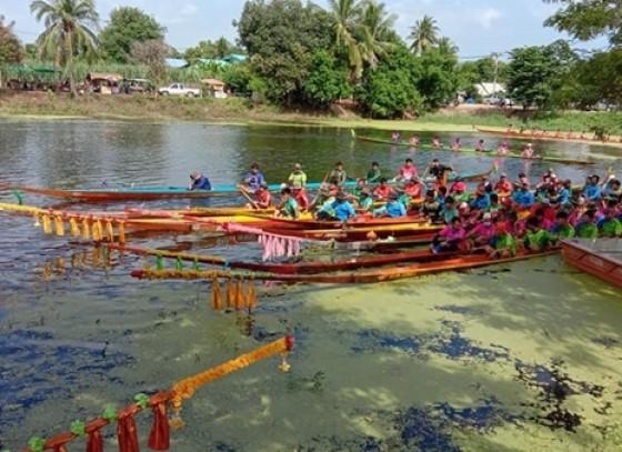 กำแพงเพชร-เทศบาลตำบลทุ่งทราย จัดโครงการแข่งขันเรือยาวต้านยาเสพติด ประจำปี 2563